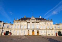 Amalienborg, die königliche Winterresidenz in Kopenhagen, Dänemark lizenzfreies stockbild