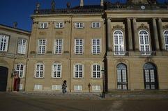 Amalienborg en Copenhague imagen de archivo libre de regalías