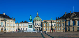 Amalienborg, the home of the Danish royal family, Copenhagen Royalty Free Stock Photo