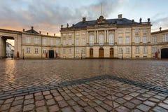 Amalienborg, palácio do ` s do cristão VII, conhecido originalmente como o ` de Moltke foto de stock royalty free