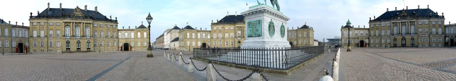 Amalienborg Palace Stock Photo