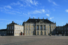 Amalienborg palace in Copenhagen. Amalienborg - royal palace in Copenhagen Royalty Free Stock Image