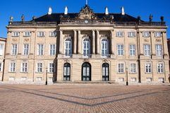 Amalienborg Palace, Copenhagen, Denmark Royalty Free Stock Photos