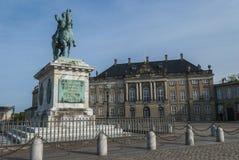 The Amalienborg Palace in Copenhagen Royalty Free Stock Images