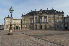 The Amalienborg Palace in Copenhagen Stock Photos