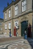 Amalienborg Palace - Copenhagen - Denmark stock image