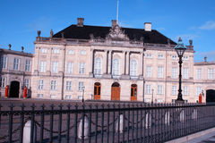 Amalienborg Palace - winter home of the royal family in Copenhag Royalty Free Stock Photo