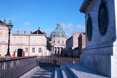 Amalienborg Palace - winter home of the royal family in Copenhag Stock Images