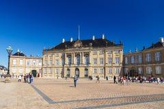 Amalienborg, palais du ` s du chrétien VII, à l'origine connu sous le nom de palais du ` s de Moltke image stock