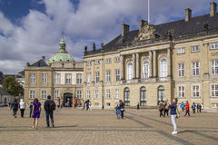 Amalienborg is the residence of the Danish Royal Family. The pal Royalty Free Stock Image