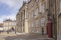Amalienborg is the residence of the Danish Royal Family. The pal Stock Photos