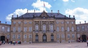 Amalienborg Royal Palace stock photo