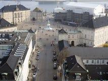 Amalienborg slott, Köpenhamn Danmark Arkivbilder