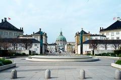 Amalienborgkasteel in Kopenhagen Stock Afbeelding