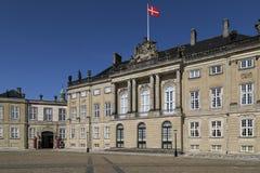 Amalienborgpaleis - Kopenhagen - Denemarken Stock Foto