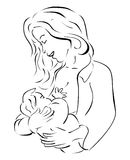 Amamentação Ilustração Royalty Free