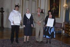 amamlienborg证书宫殿奖 免版税库存图片