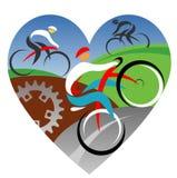 Amamos el completar un ciclo Foto de archivo libre de regalías