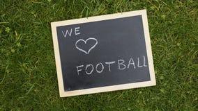Amamos fútbol Fotografía de archivo libre de regalías