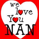 Amamos la dedicación de Nan Indicates Passion Affection And libre illustration