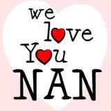 Amamos a Nan Shows Dating Devotion And Gran stock de ilustración
