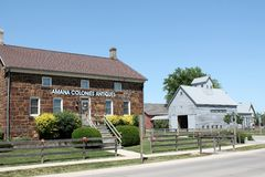 Amana Colonies Iowa. View of the Amana Colonies village in Iowa, a popular summer tourist stop Royalty Free Stock Photography