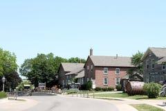 Amana Colonies Iowa. View of the quaint  village of Amana in the Amana Colonies of Iowa Stock Photography