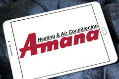 Amana heating and air conditioning company logo Stock Photo
