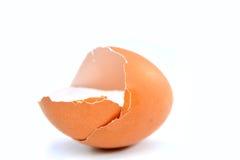 Łamana jajeczna skorupa Obrazy Royalty Free