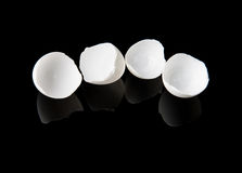 Łamana jajeczna skorupa Zdjęcia Stock