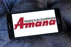 Amana ogrzewanie i lotniczy uwarunkowywać firma logo Obraz Royalty Free