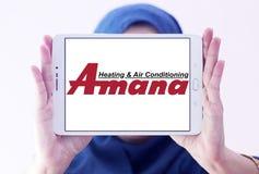 Amana ogrzewanie i lotniczy uwarunkowywać firma logo Zdjęcia Stock