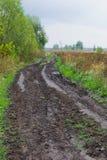łamana wiejska droga Zdjęcie Stock