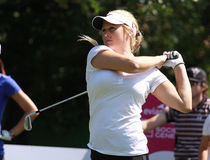 Amanda blumenherst am Golf Evian erarbeitet 2012 Stockfotos
