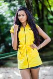 Amanda Silva. Is a actress in srilanka  - news paper photoshoot at colombo - December 09th, 2012 Stock Image