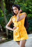 Amanda Silva. Is a actress in srilanka  - news paper photoshoot at colombo - December 09th, 2012 Stock Photos