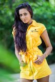 Amanda Silva. Is a actress in srilanka  - news paper photoshoot at colombo - December 09th, 2012 Royalty Free Stock Images