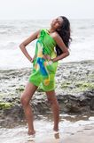 Amanda Silva. Is a actress in srilanka  - news paper photoshoot at colombo - December 10th, 2010 Stock Photography