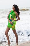 Amanda Silva. Is a actress in srilanka  - news paper photoshoot at colombo - December 10th, 2010 Royalty Free Stock Images