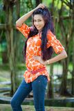 Amanda Silva. Is a actress in srilanka  - news paper photoshoot at colombo - Photo taken on: November 26th, 2012 Royalty Free Stock Photography