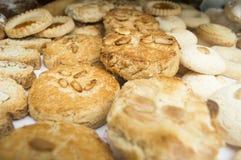 Amande et gâteaux de pignon Image stock