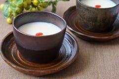 Amandelgelei, traditioneel Chinees dessert Stock Afbeeldingen