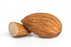 amandes d'isolement image stock