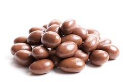 Amandes en chocolat photo stock