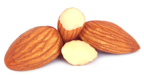 Amandes fraîches Photo libre de droits