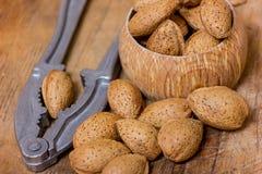 Amandes nuts Photos libres de droits