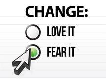 Amando ou temendo a mudança Fotos de Stock