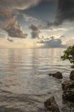 Amanecer atlántico en dominante largo Foto de archivo