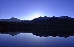 Amanecer azul Fotografía de archivo libre de regalías