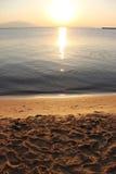 Amanecer colorido sobre el mar Composición de la naturaleza Foto de archivo libre de regalías